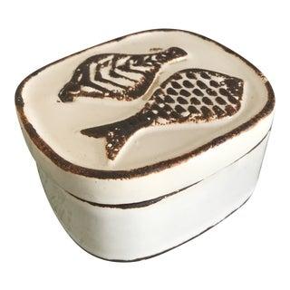 Contemporary Ceramic Fish Box For Sale