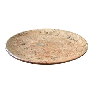 Dark Travertine Round Candle Hot Plate