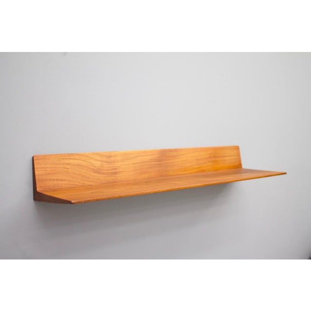 Brown Teak Mirror and Console by Aksel Kjersgaard & Poss. Copenhagen Denmark 1960s For Sale - Image 8 of 11
