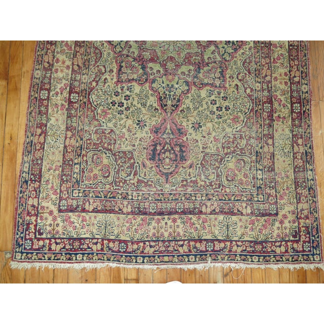 19th Century Lavar Kerman Rug, 4' x 6'4'' For Sale - Image 5 of 11