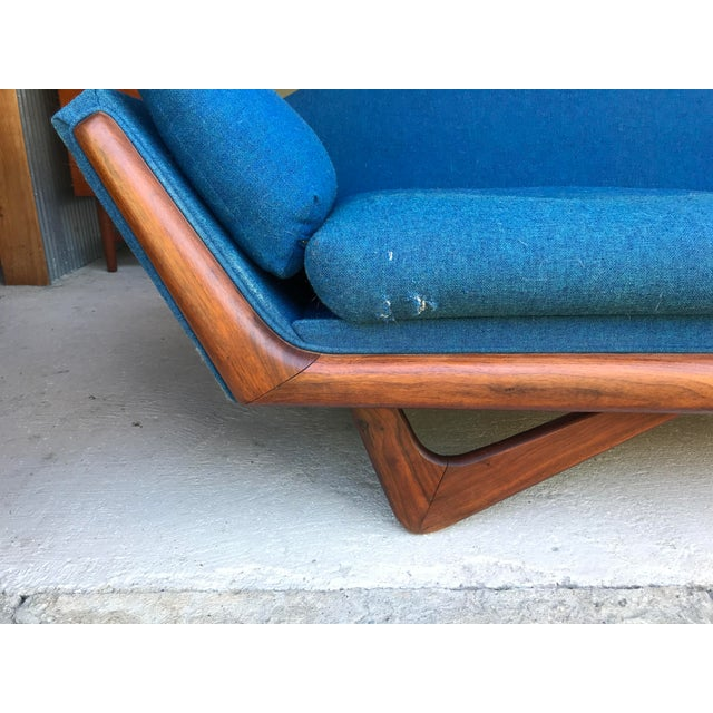 "Textile 101"" Adrian Pearsall Walnut Gondola Sofa Craft Associates For Sale - Image 7 of 13"