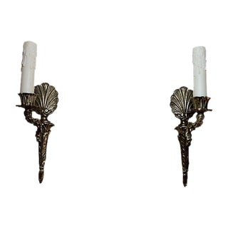 Gustavian-Style Shell Sconces - A Pair