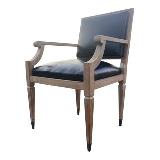 Jacques Adnet Style Arm Chair For Sale