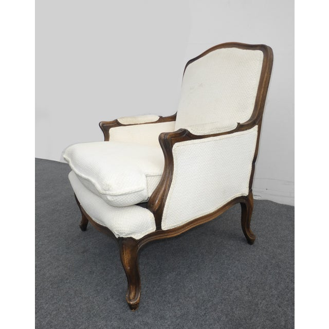 Vintage French Provincial White Arm Chair - Image 4 of 10