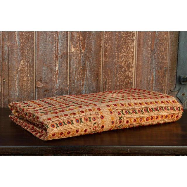 Orange Oshma Sheesha Coverlet For Sale - Image 8 of 8