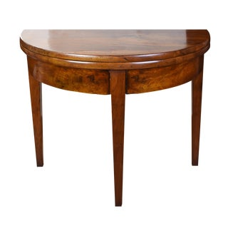 19th Century French Walnut Demilune For Sale