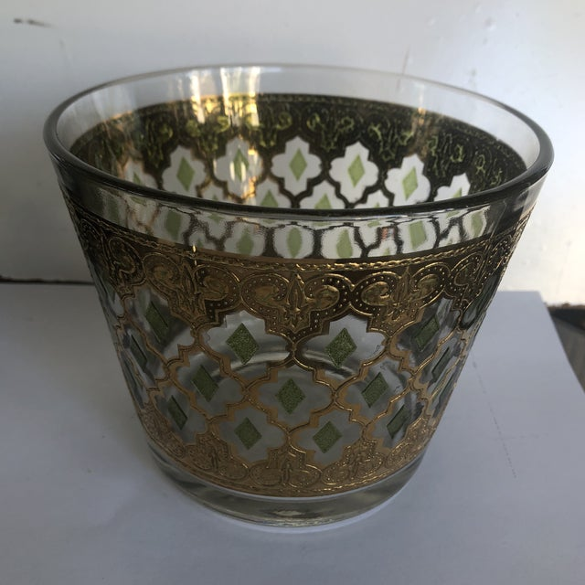 Metal 1970s Vintage Culver Valencia Glass Ice Bucket For Sale - Image 7 of 7