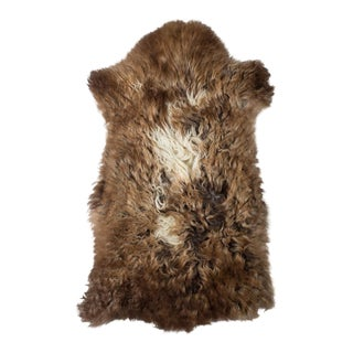 "Contemporary Natural Sheepskin Pelt -1'8""x3'2"" For Sale"