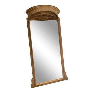 Restoration Hardware Cerused Oak Leaner Mirror For Sale