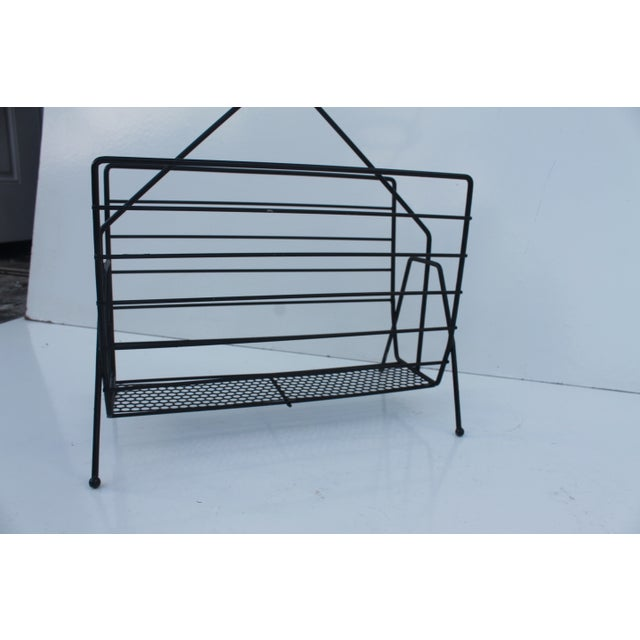 Richard Galef Vintage Magazine Rack For Sale In Miami - Image 6 of 8