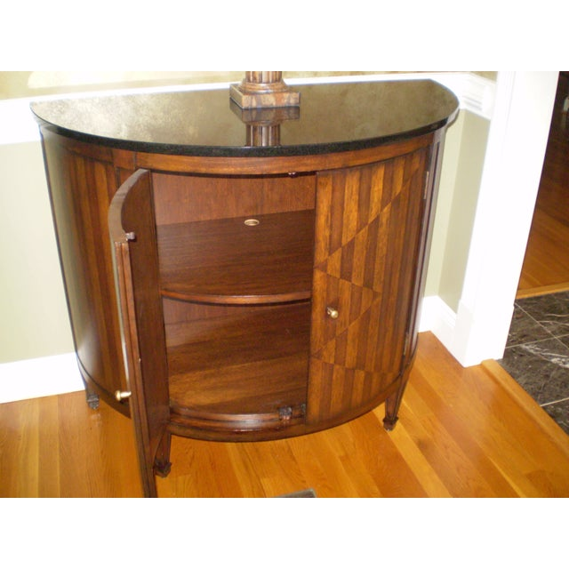 Continental Demilune Cabinet Console Table - Image 3 of 3