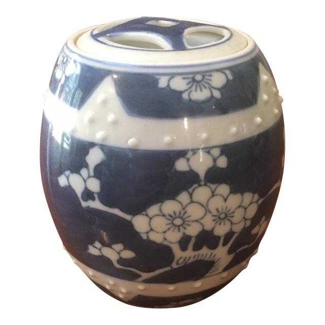 Blue & White Cherry Blossom Jar For Sale