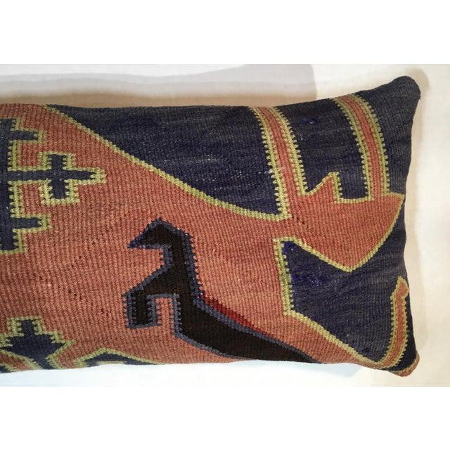 1960s Mediterranean Kazak Cotton Pillows - a Pair For Sale - Image 10 of 13