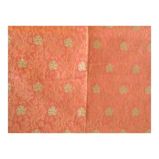 Robert Allen Damask Embroidered Fabric- 2 1/2 Yards For Sale