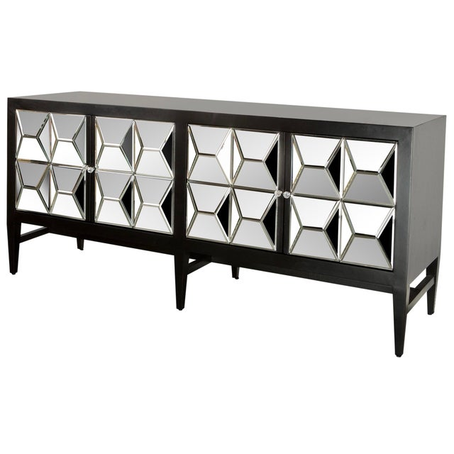 Contemporary Wooden & Glass Spike Sideboard For Sale In Los Angeles - Image 6 of 6