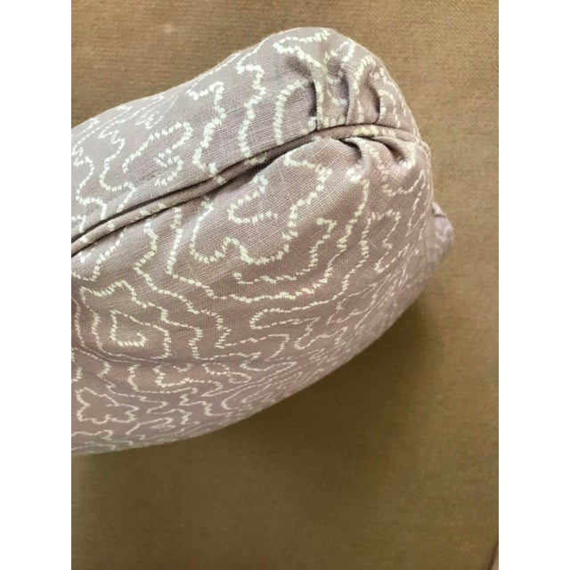 Pale Lavender Squiggle Print Pillow - Image 4 of 4