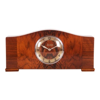 Art Deco Chimney Clock by Junghans, 1930s For Sale