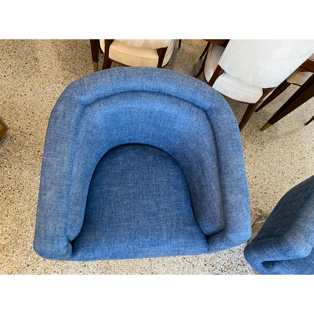 Mid-Century Modern Leon Rosen for Pace Chairs Memory Swivel - a Pair For Sale - Image 11 of 13