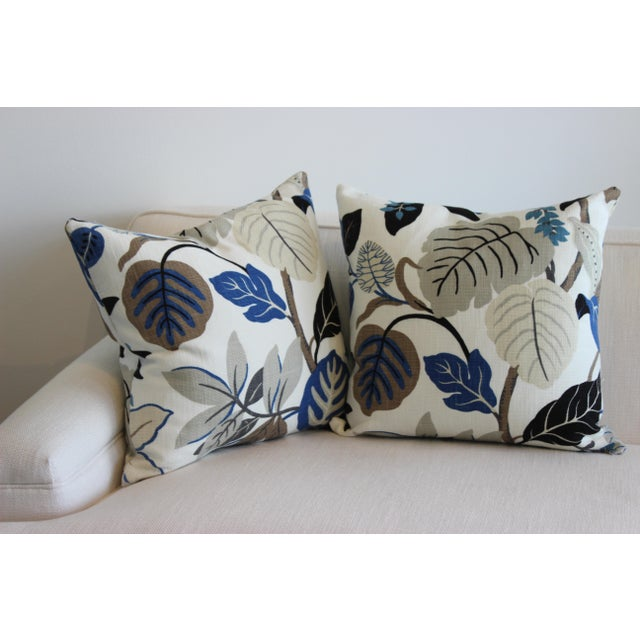 Bespoke Floral Pillows - a Pair For Sale - Image 11 of 11
