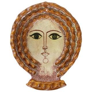 1950s Spanish Ceramic Wall Plaque by Alfaraz For Sale