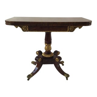 Regency Style Game Table For Sale
