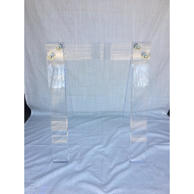 Mid Century Lucite Blanket Rack Saw Horse For Sale - Image 4 of 13
