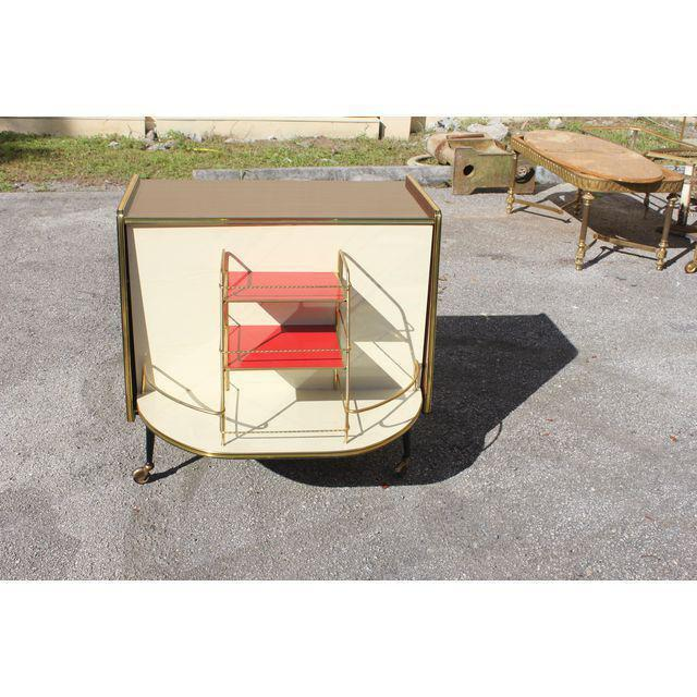 1940s Vintage Macassar French Art Deco Swivel Bar Cabinet For Sale In Miami - Image 6 of 13