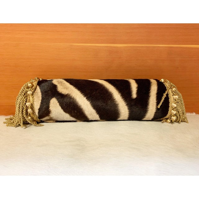 """One of a Kind Zebra Pillow, 24.5"""" For Sale - Image 4 of 6"""