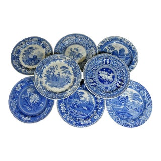 Spode Blue Room Decorator Dinner Plates - Set of 8 For Sale