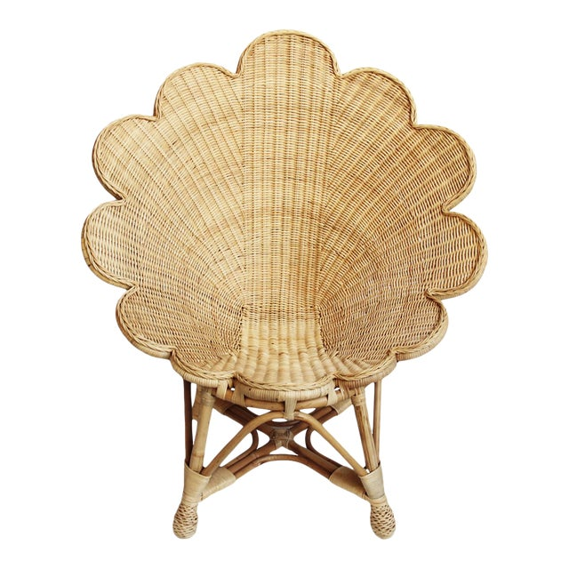 Rattan Natural Shell Chair For Sale