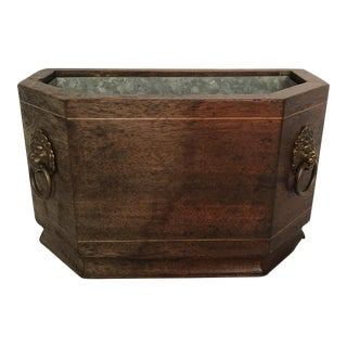 Mahogany and Brass Planter