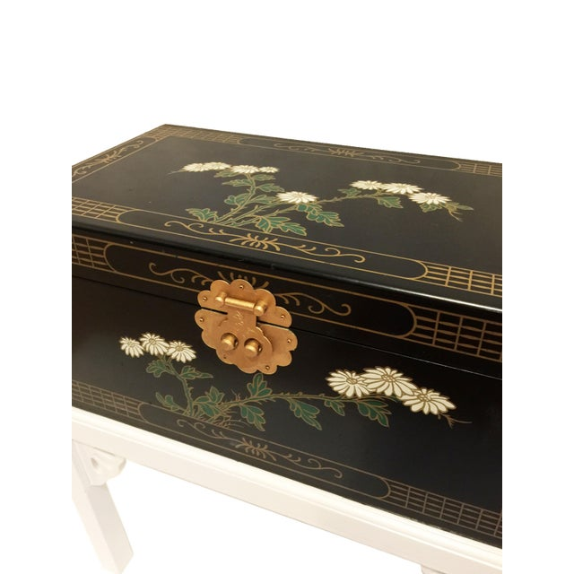 Gold 1970s Chinoiserie Lacquered Chest For Sale - Image 7 of 11