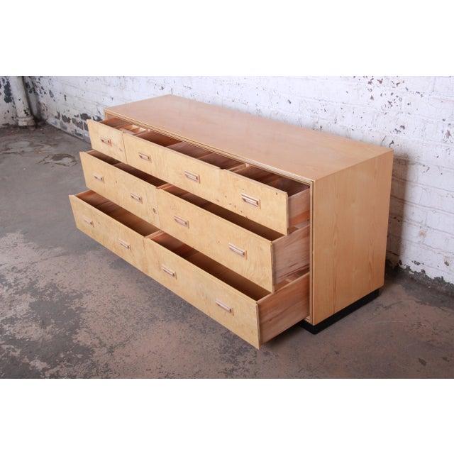 Ash Milo Baughman Style Burl Wood Dresser or Credenza by Henredon For Sale - Image 7 of 13