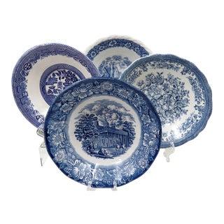 Vintage Mismatched Ironstone China Bowls - Set of 4