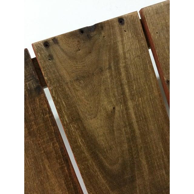 Metal Boho Chic Low Reclaimed Hardwood Meditation Table For Sale - Image 7 of 13