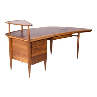 1950s Mid-Century Modern Allen Ditson Sculptural Executive Desk For Sale