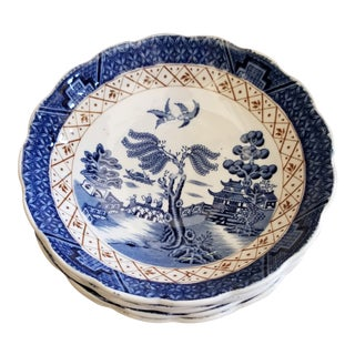 Set of Five Booths Blue Willow Bowls For Sale
