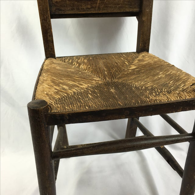 Primitive Antique Primitive Shaker Church Chairs - Set of 4 For Sale -  Image 3 of - Antique Primitive Shaker Church Chairs - Set Of 4 Chairish