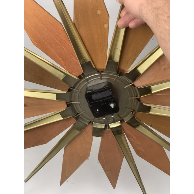 1960s Vintage Phinney Walker Starburst Clock For Sale In New York - Image 6 of 9