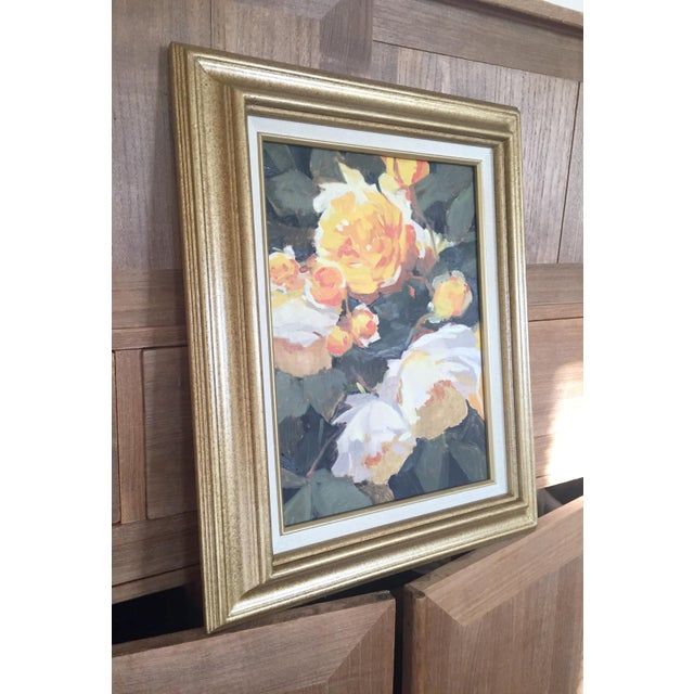 Vintage French Oil Flower Painting - Image 3 of 5