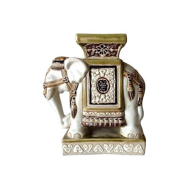 Porcelain Asian-Style Ceramic Elephant - Image 2 of 5