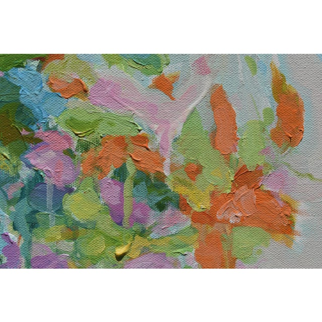 """Stephen Remick Abstract """"Bouquet on Light Gray Ground"""" Painting by Stephen Remick For Sale - Image 4 of 11"""