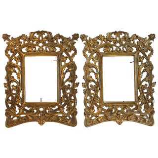 Pair of Art Nouveau Picture Frames For Sale