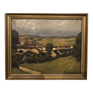 European Village Oil Painitng For Sale