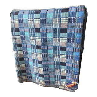 1960s Bauhaus Plaided Quilt Thrower For Sale