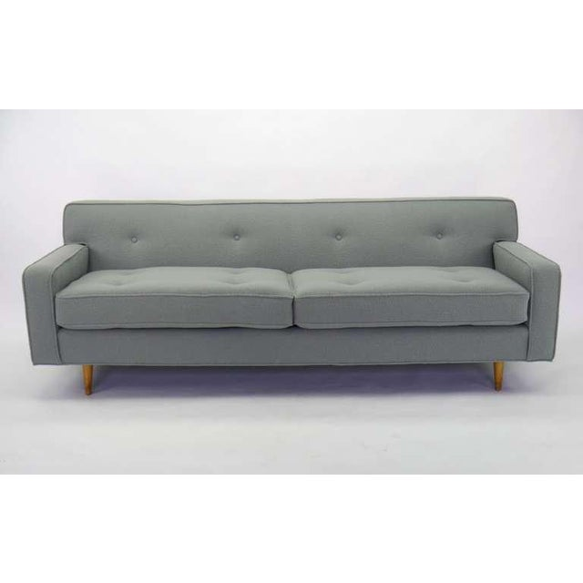 Textile Compact Mid-century Sofa For Sale - Image 7 of 9