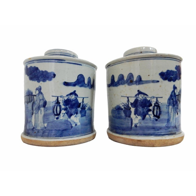 B & W Ginger Jars - A Pair - Image 2 of 6