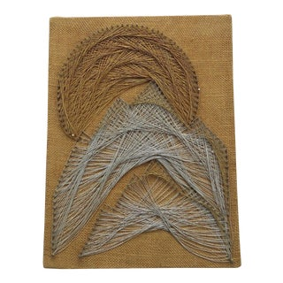 Mountain Landscape String Art