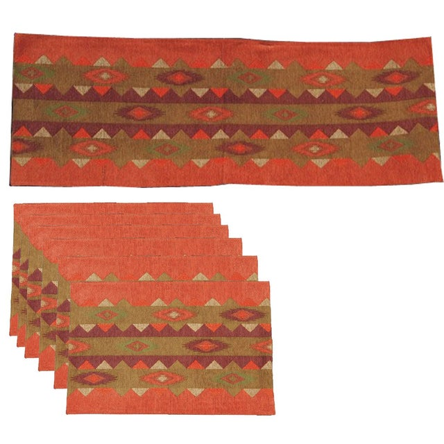Table Runner & Placemats Southwest - Set of 7 For Sale
