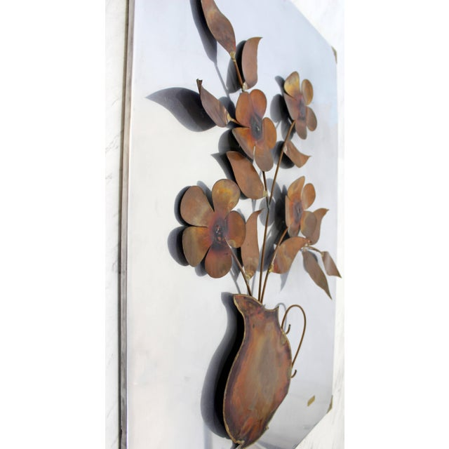 Mid-Century Modern 1970s Mid-Century Modern Aluminum Copper Wall Art Sculpture by Alex Kovacs For Sale - Image 3 of 8